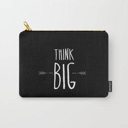 Think Big Black & White Carry-All Pouch