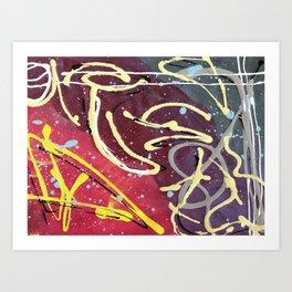 Unicorn Magic Gone Abstract Art Print