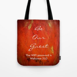 Guest Room WIFI Password Tote Bag