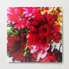 Red Gerbera Daisy Abstract Metal Print