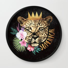 superior in the jungle Wall Clock