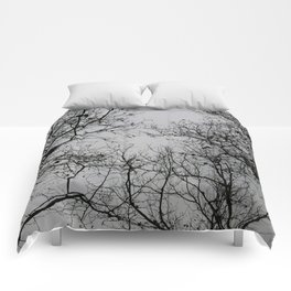 trees in winter Comforters