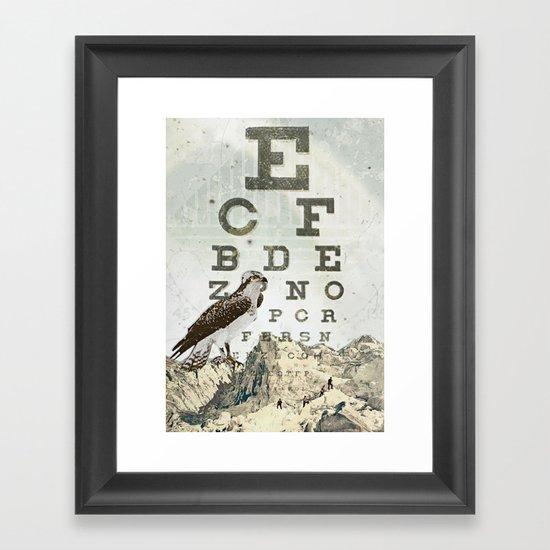 eye chart II Framed Art Print
