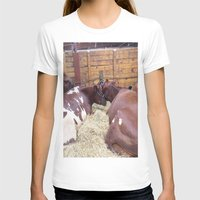 cows T-shirts featuring Cuddling Cows by Paulettepageant