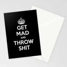 Keep Calm and Get Mad and Throw Shit Stationery Cards