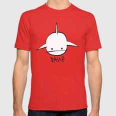 minima - hover shark LARGE Red Mens Fitted Tee