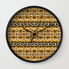 Montana Stripe - Gold Wall Clock