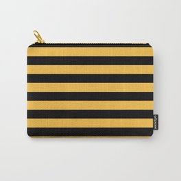 Yellow and Black Bumblebee Stripes Carry-All Pouch