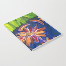 Flowers Float by Ladybug Grass Notebook