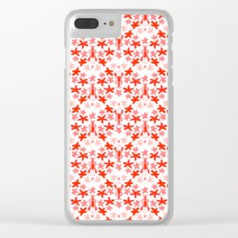 Under the sea - In red and pink Clear iPhone Case