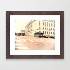San Antonio Trolley Framed Art Print