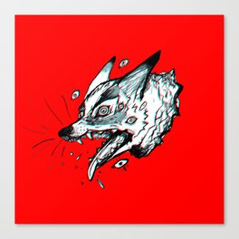 Red Doghead Canvas Print