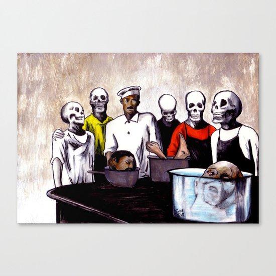 The Bastards' Cooking School of Satan Canvas Print
