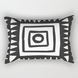 Tribal Print B&W- 02 Rectangular Pillow