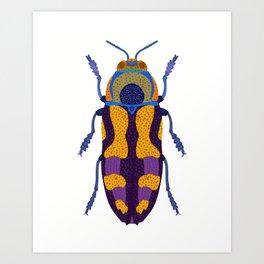 Purple and Blue Beetle Art Print