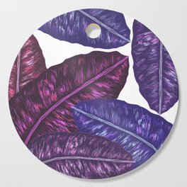 Tropical Leaves - Ultra Violet 1 Cutting Board