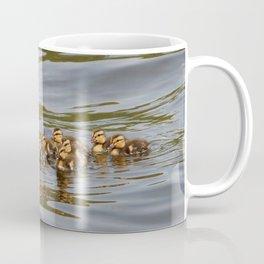 Mallard duck and ducklings Coffee Mug