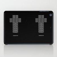 faith iPad Cases featuring Faith by WRDBNR