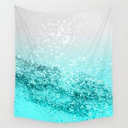 Silver Gray Aqua Teal Ocean Glitter #1 #shiny #decor #art #society6 Wall Tapestry