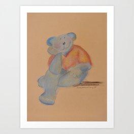 teddy bear in love Art Print