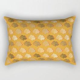 United Women Folding Hands Pattern in Gold Rectangular Pillow