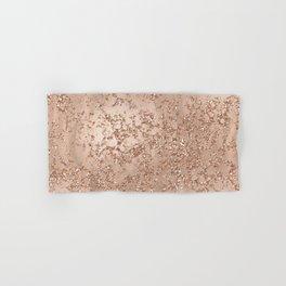 Rose Gold Crackle Hand & Bath Towel