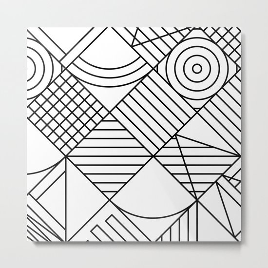 Whackadoodle White and black Metal Print
