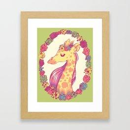 Lovely Giraffe 2 Framed Art Print
