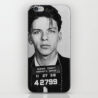 frank sinatra iPhone & iPod Skins featuring Frank Sinatra Mugshot by Neon Monsters