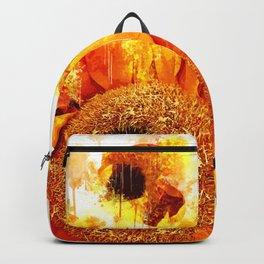 Sunflower Watercolor Portrait Backpack