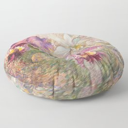 PURPLE AND WHITE ORCHID Floor Pillow