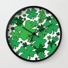 Clover Confetti Wall Clock