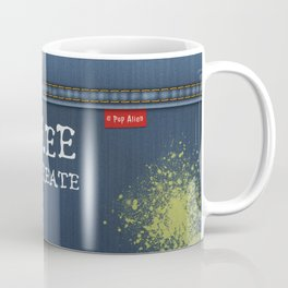 Denim Jeans - Free To Create Coffee Mug