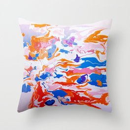 plastic wave Throw Pillow