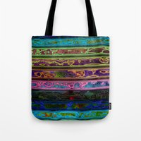 coachella Tote Bags featuring Coachella by RingWaveArt