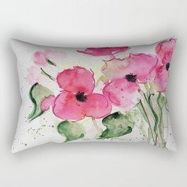 pink flowers party Rectangular Pillow