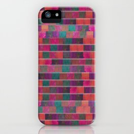 """Full Color Squares Pattern"" iPhone Case"