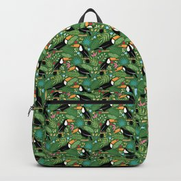 Toucan green pattern Backpack