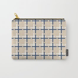 Navy and tan Cross Carry-All Pouch
