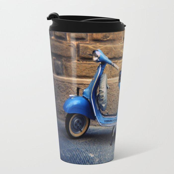 Blue Vespa, Italy Travel Mug
