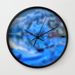 Reflections in blue and periwinkle Wall Clock