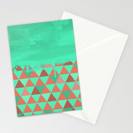 Triangle Dip Mint Stationery Cards