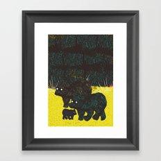 Wandering Bears Framed Art Print