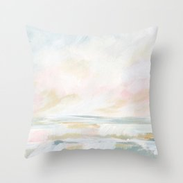 Golden Hour - Pastel Seascape Throw Pillow