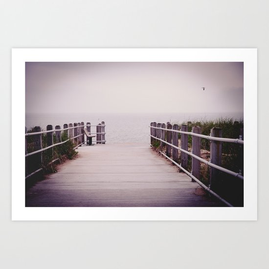 Lonely Beach Day:Color  Art Print
