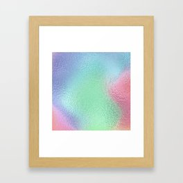 Simply Metallic in Holographic Rainbow Framed Art Print