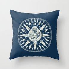 Sailors Compass Throw Pillow