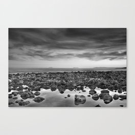Gibraltar  Africa and Spain in one shot. BN Canvas Print