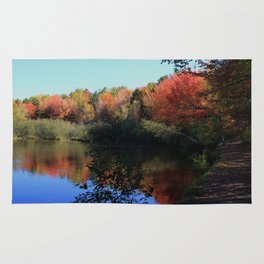 Autumn Trail Lake Relections Rug