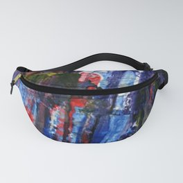 Cap vs Thanos color abstract Fanny Pack